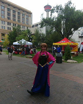 Dazzling Princess Parties Character Downtown Calgary Alberta YYC