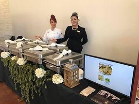 Chef Ludivina Galvan-Cantu and team member Antonia Galvan