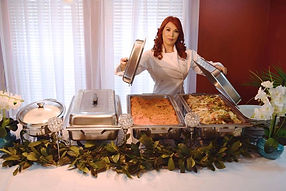 Chef Luivina Galva-Cantu dsplaying her delicious red rice