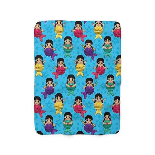 Chubby Mermaids Sherpa Fleece Blanket