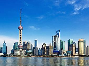 中国上海の高層ビル群