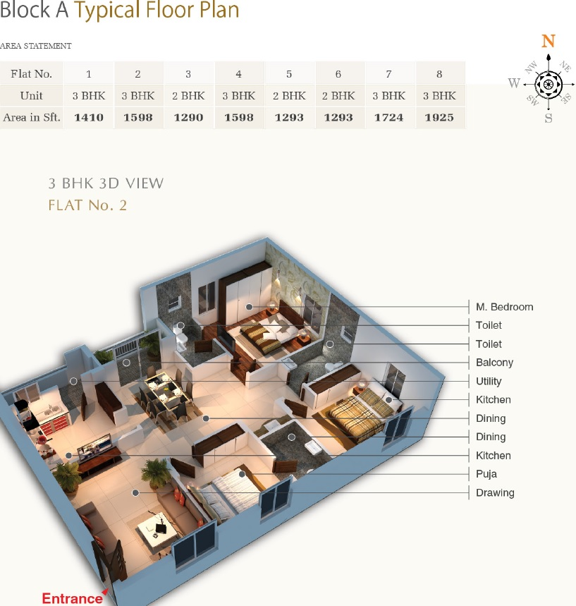 Block A Typical Floor Plan 1-1