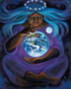 Grandmother holding Globe of Earth.jpg
