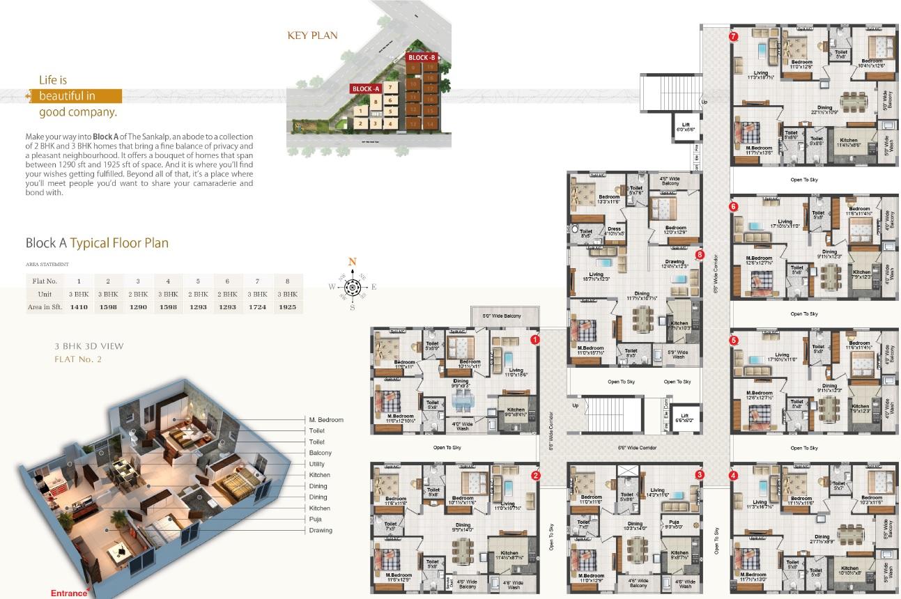 Block A Typical Floor plan