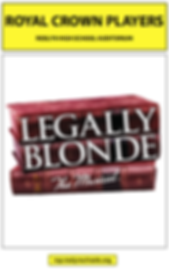 Legally Blonde RCP Playbill