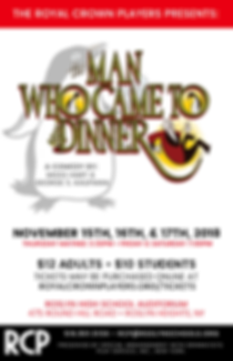 Royal Crown Players - The Man Who Came to Dinner Poster