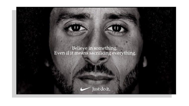 The famous Nike Colin Kaepernick ad