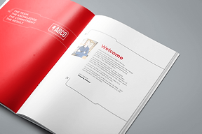a corporate brochure by Belfast copywriter,
