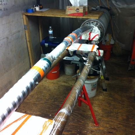 Install 245kV pipe type splice