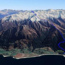Sentinel Peak GPS track