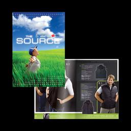 Promotional clothing catalogue design