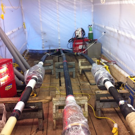 Prysmian accessories installed 275kV straight joints