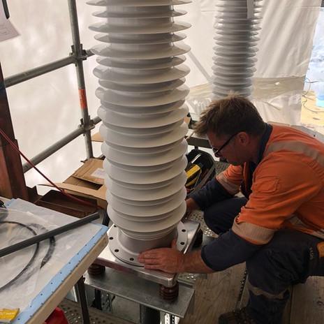Nexans accessories installed 110kV outdoor terminations.