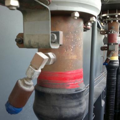 BICC accessories repair 132kV oil immersed terminations.