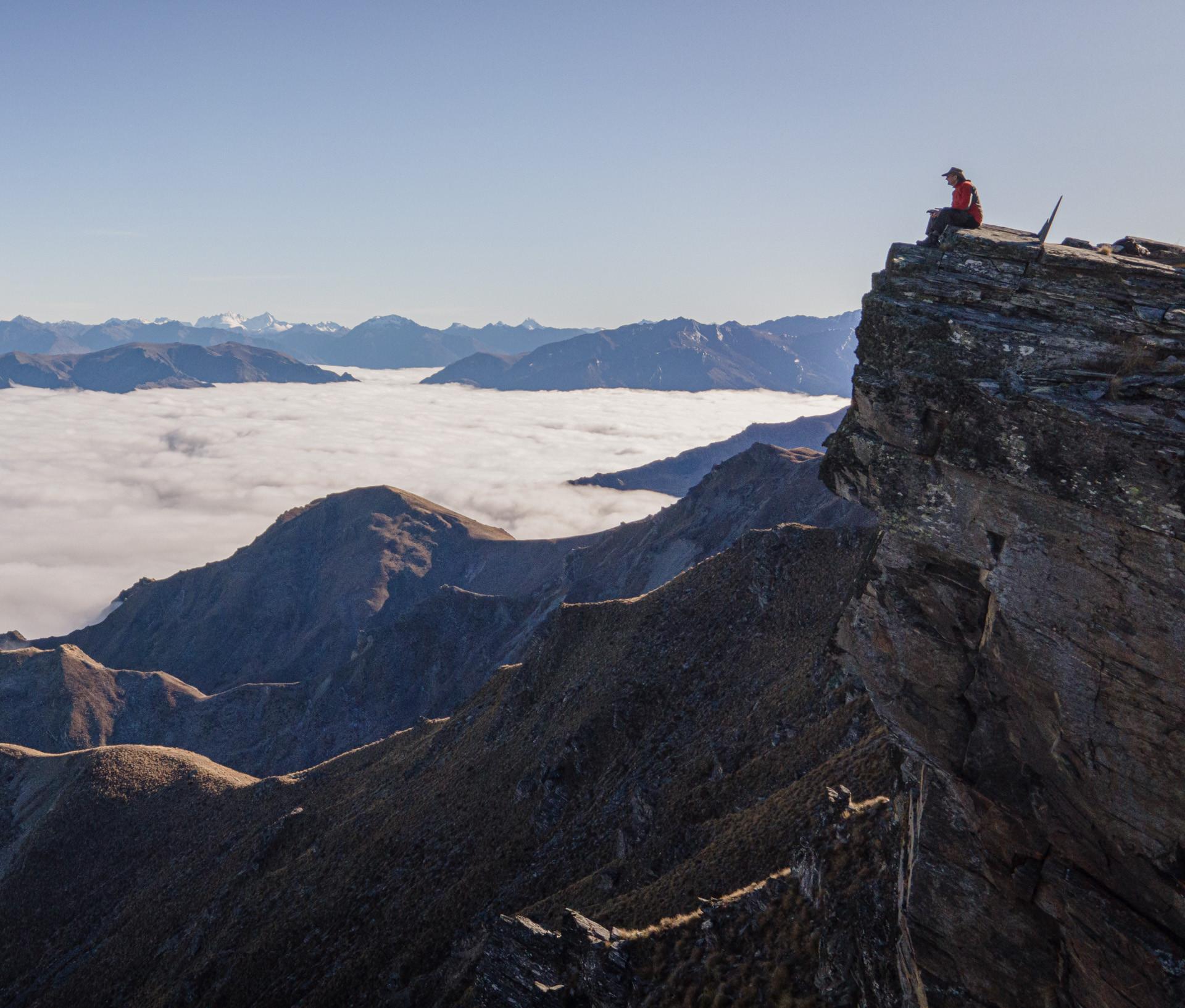 Breast Hill ridge with inversion fog