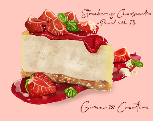 Strawberry Cheesecake Painting By Gina 1