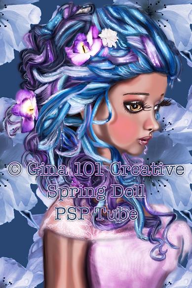 Spring Doll PSP Tube By Gina 101 Creativ