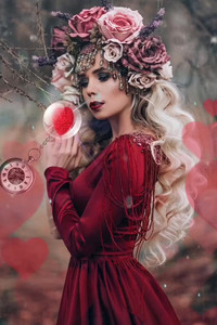 Romantic Fantasy Forest Lady