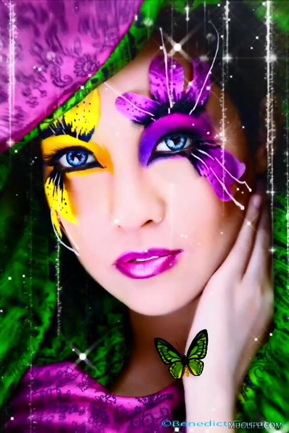 Beautiful Butterfly Lady