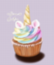 Unicorn Cupcake Painting by Gina 101 Cre