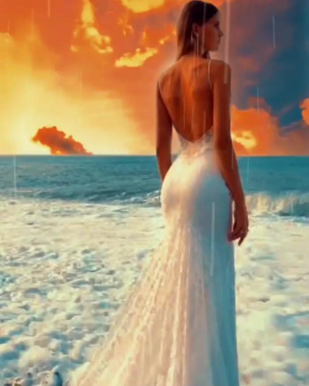 Romantic Sunset Bride
