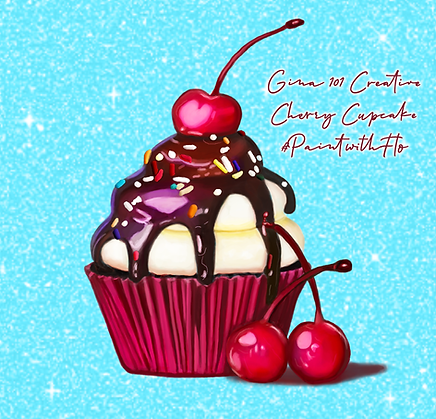 Cherry Cupcake By Gina 101 Creative