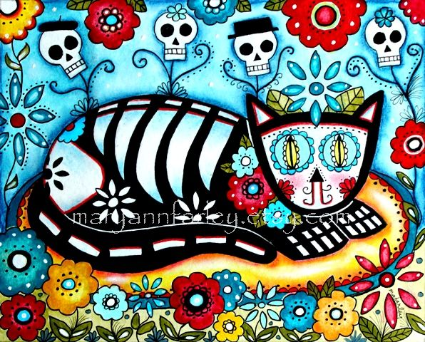 cat_art_print_skeleton_day_of_dead_RS