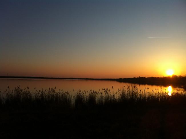 Wallendorfer See bei Sonnenuntergang