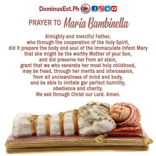 September 8 Prayer to Maria Bambinella.j
