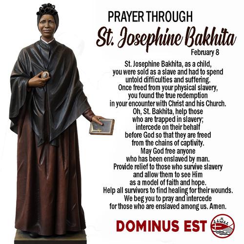 Feb 8 Prayer through Josephine Bakhita.j