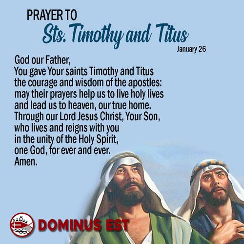 January 26 Prayer to Timothy and Titus.j