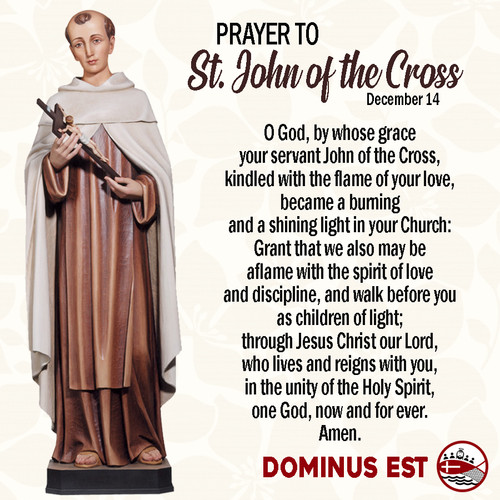 December 15 Prayer to John of the Cross.