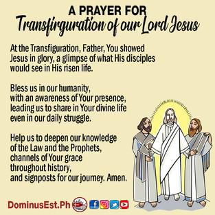 Prayer on Transfiguration