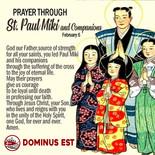 February 6 Prayer through St Paul Miki and Co