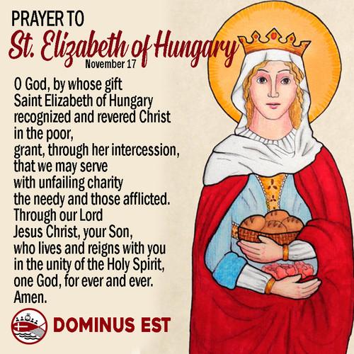 Nov 17 Prayer to Elizabeth of Hungary.jp