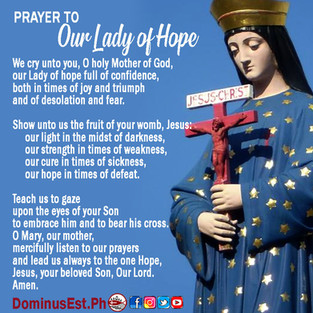 Prayer to Our Lady Mother of Hope