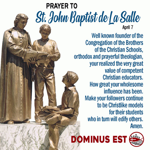 April 7 Prayer to John Baptist de La Sal