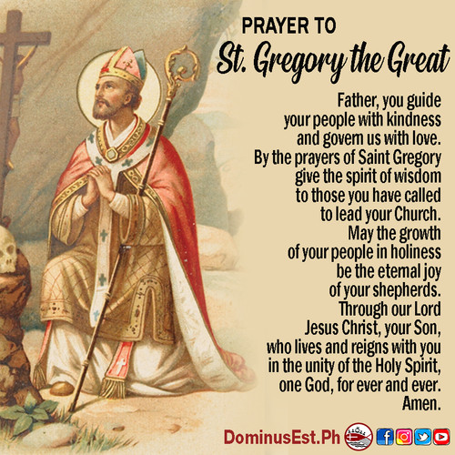 September 3 Prayer to Gregory the Great.