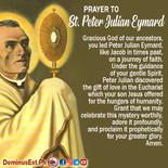August 2 Prayer to Peter Julian Eymard.j