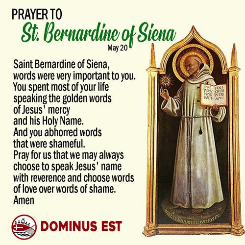 May 20 Prayer to Bernardine of Siena.jpg