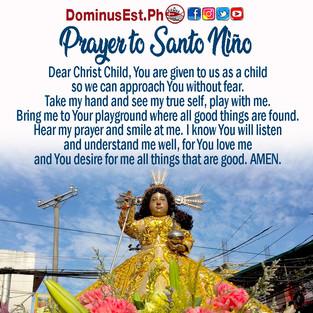 Prayer to Sto Nino