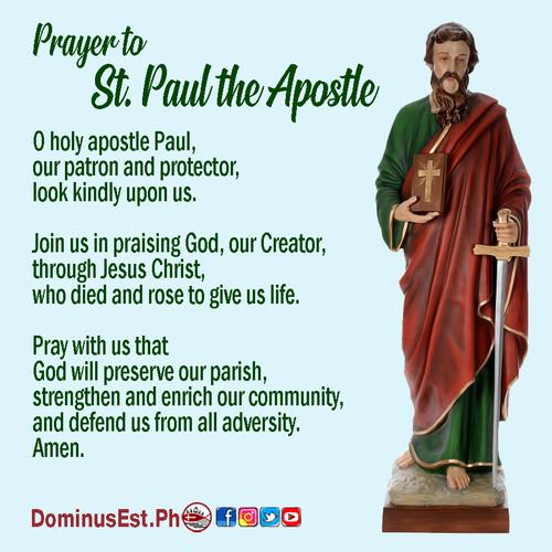 June 29 Prayer to Paul the Apostle.jpg