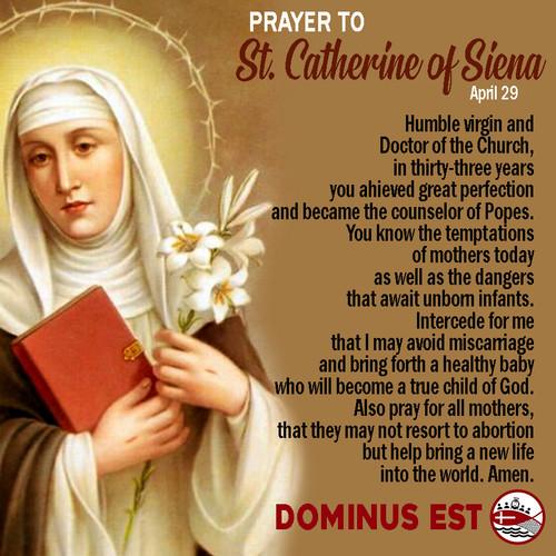 April 29 Prayer to Catherine of Siena.jp