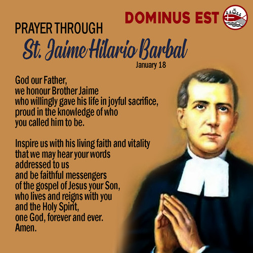 January 18 Prayer through Jaime Hilario.