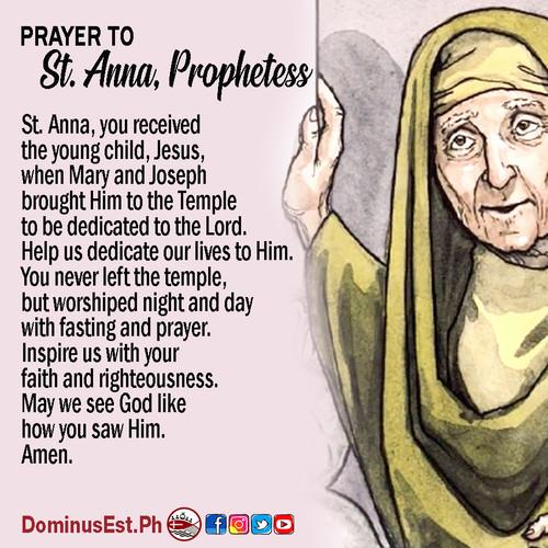 September 1 Prayer to Anna, Prophetess.j