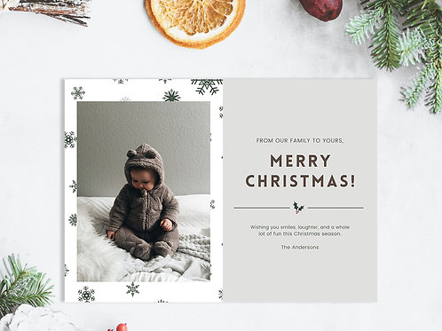 Personalized Holiday Card- Festive