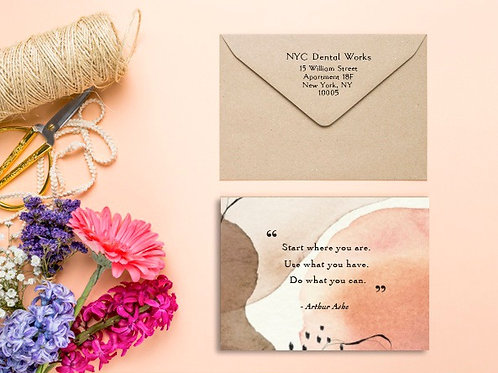 Business Appreciation Cards - Coral