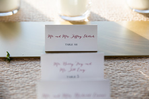 Bride and Groom table card