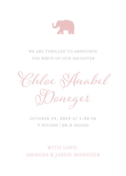 Custom Watercolor Baby Announcement