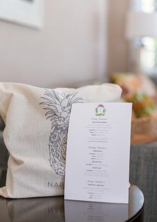 Naples Wedding Welcome Bag and Map